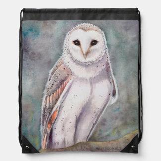 Barn Owl Wildlife Watercolor Art Backpack