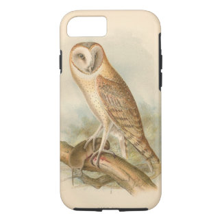 Barn Owl With Prey Vintage Illustration iPhone 7 Case