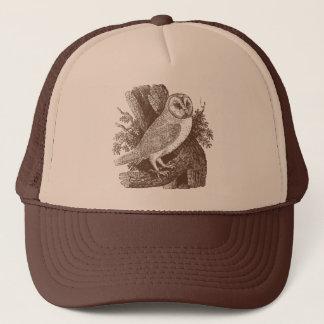 Barn Owl Woodcut Trucker Hat