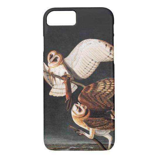Barn Owls by Audubon iphone 8/7 Case