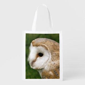 BARN OWLS REUSABLE GROCERY BAG