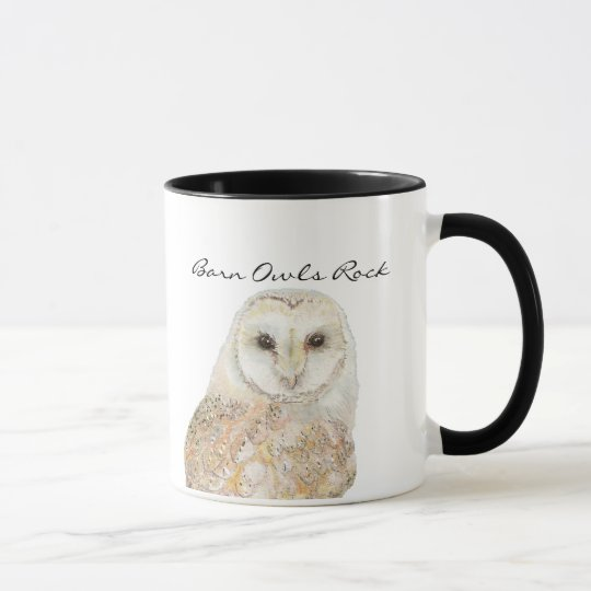 Barn Owls Rock- Watercolor Bird Collection Mug