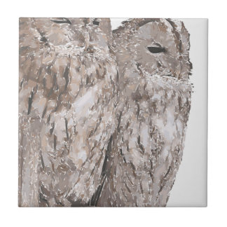 Barn Owls Tile