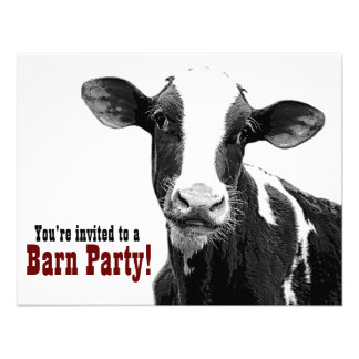 Barn Party - Country Style Get Together Custom Invitations
