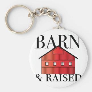 Barn & Raised Basic Round Button Key Ring