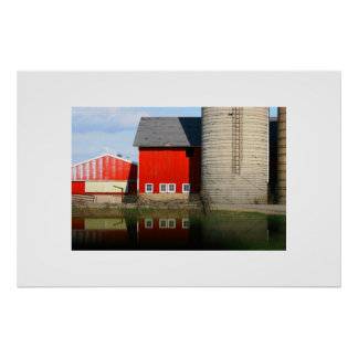 Barn Reflections Posters