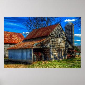 Barn Rural Farm Life Scene Poster Print