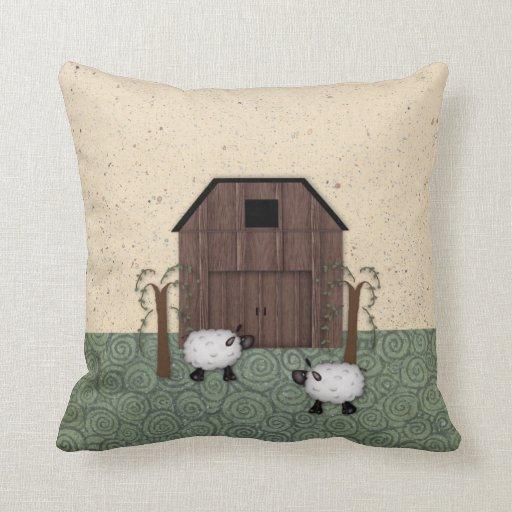 Barn Sheep Pillow