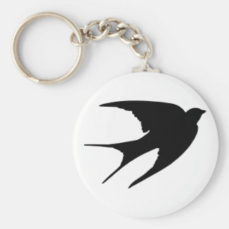 Barn Swallow Basic Round Button Key Ring