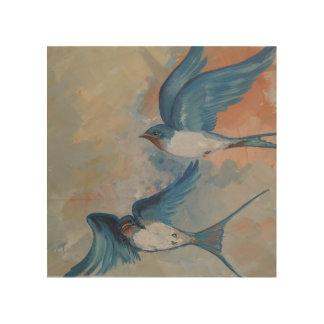 Barn Swallow Birds Wooden Wall Art Wood Prints
