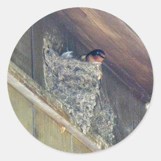 Barn Swallow Series Round Sticker