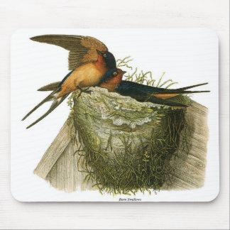 Barn Swallows Mouse Pad