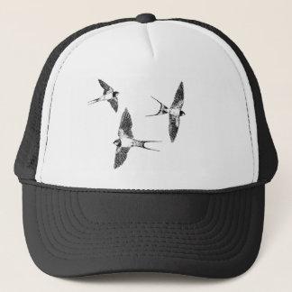 Barn swallows trucker hat