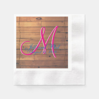 Barn Wall 3d Monogram Disposable Serviette