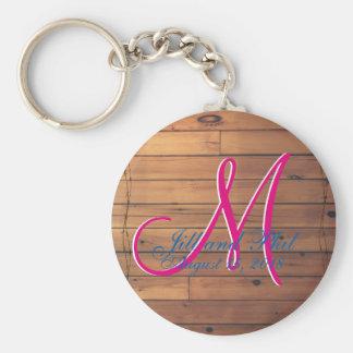 Barn Wall 3d Monogram Key Ring