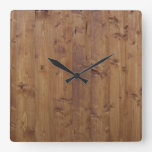 Barn Wall Made of Old Wooden Planks - Brown Clock