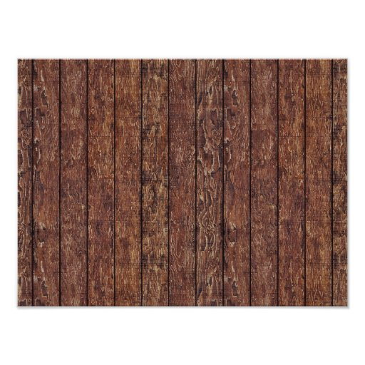 Barn Wall Made of Old Wooden Planks - Brown Poster