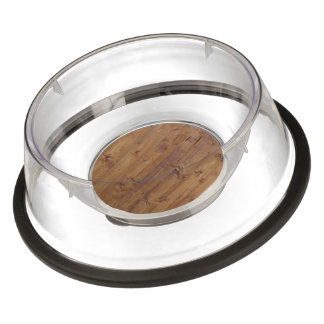 Barn Wall Made of Old Wooden Planks - Brown Pet Bowl