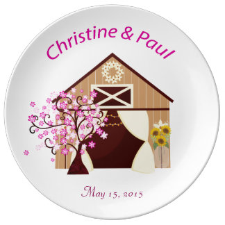 Barn Wedding Commemorative Plate
