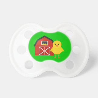 Barn with Chick  Farm Gift Baby Pacifiers