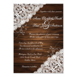 Barn Wood and Lace Rustic Wedding Invitations