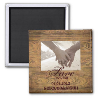 Barn wood Country cowboy Wedding save the date Magnet