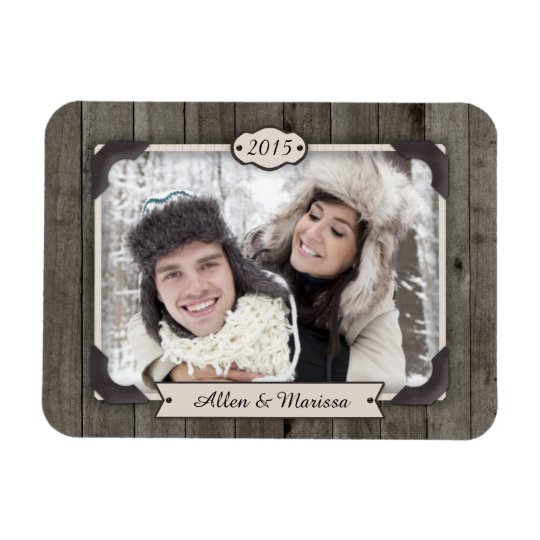Barn Wood Custom Photo Flexi Magnet