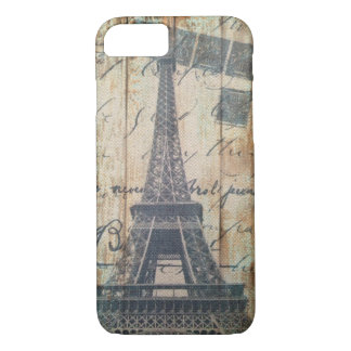 Barn Wood French Country Paris Eiffel Tower iPhone 8/7 Case