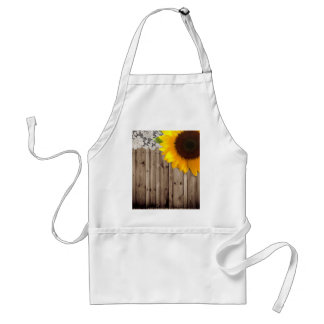 barn wood lace rustic country sunflower standard apron