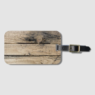 Barn Wood Luggage Tag with Business Card Slot