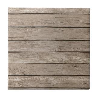 Barn Wood Panels Small Square Tile