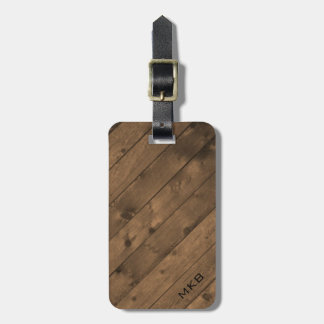Barn Wood Tag w/ leather strap