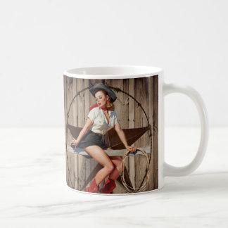 Barn Wood Texas Star western country Cowgirl Coffee Mug