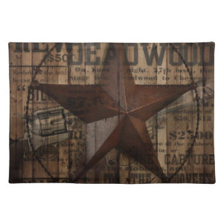 Barn Wood western country Texas Lone Star Placemat