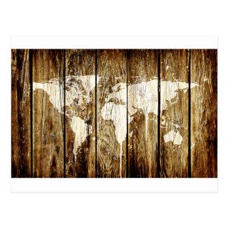 barn world map 2 postcard