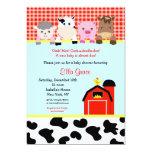 "Barn yard Farm Barnyard Baby Shower Invitations 5"" X 7"" Invitation Card"