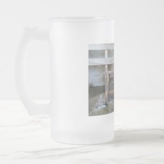 Barn Yard Frosted Glass Mug