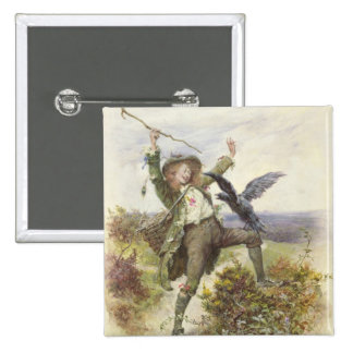 Barnaby Rudge and the Raven Grip 15 Cm Square Badge