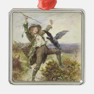 Barnaby Rudge and the Raven Grip Christmas Ornament