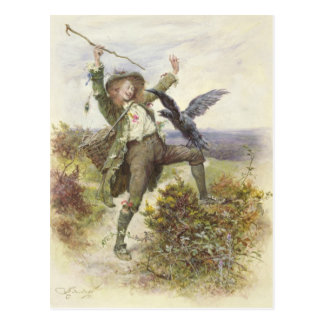 Barnaby Rudge and the Raven Grip Postcard