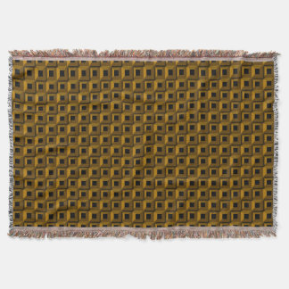 Barnacles in Gold Throw Blanket