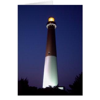 Barnegat Lighthouse at Night Card