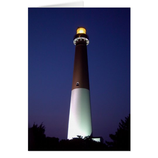 Barnegat Lighthouse at Night Card