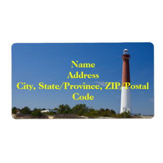 Barnegat Lighthouse II Label Shipping Label