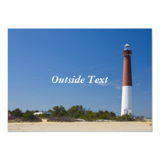 "Barnegat Lighthouse Invitation 5"" X 7"" Invitation Card"