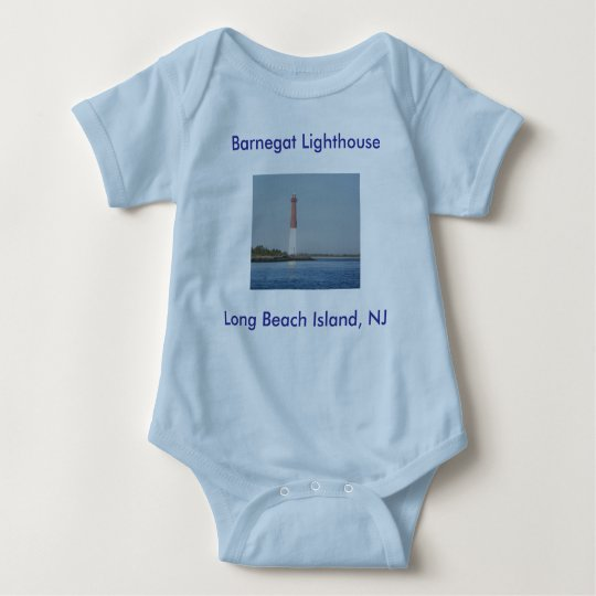 Barnegat Lighthouse NJ Baby Onsie Baby Bodysuit
