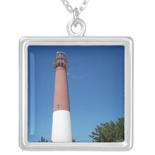 Barnegat Lighthouse Old Barney Silver Plated Necklace