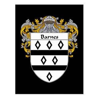 Barnes Coat of Ams (Mantled) Postcard