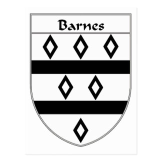 Barnes Coat of Arms/Family Crest Postcard