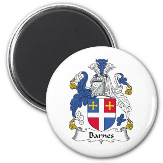 Barnes Family Crest 6 Cm Round Magnet